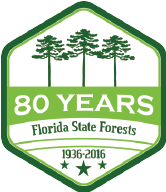 Logo: 80 Years of Florida State Forests