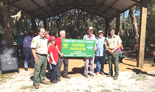 Tiger Bay State Forest New Picnic Pavilion Dedication.