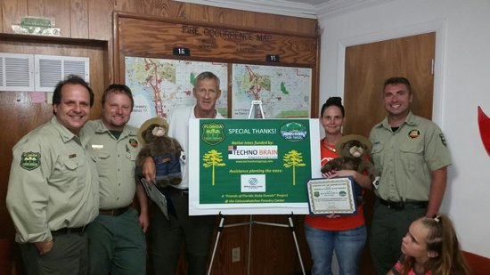 Special Thanks Were Given to Partners by Forestry Staff